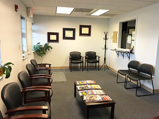 Podiatry Edison NJ Reception